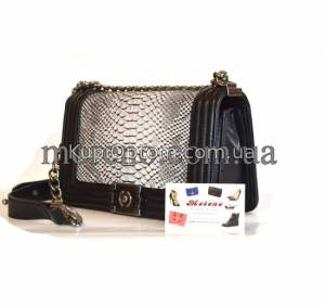 Фото 1: Сумка Chanel Boy Snake Leather 25 cm